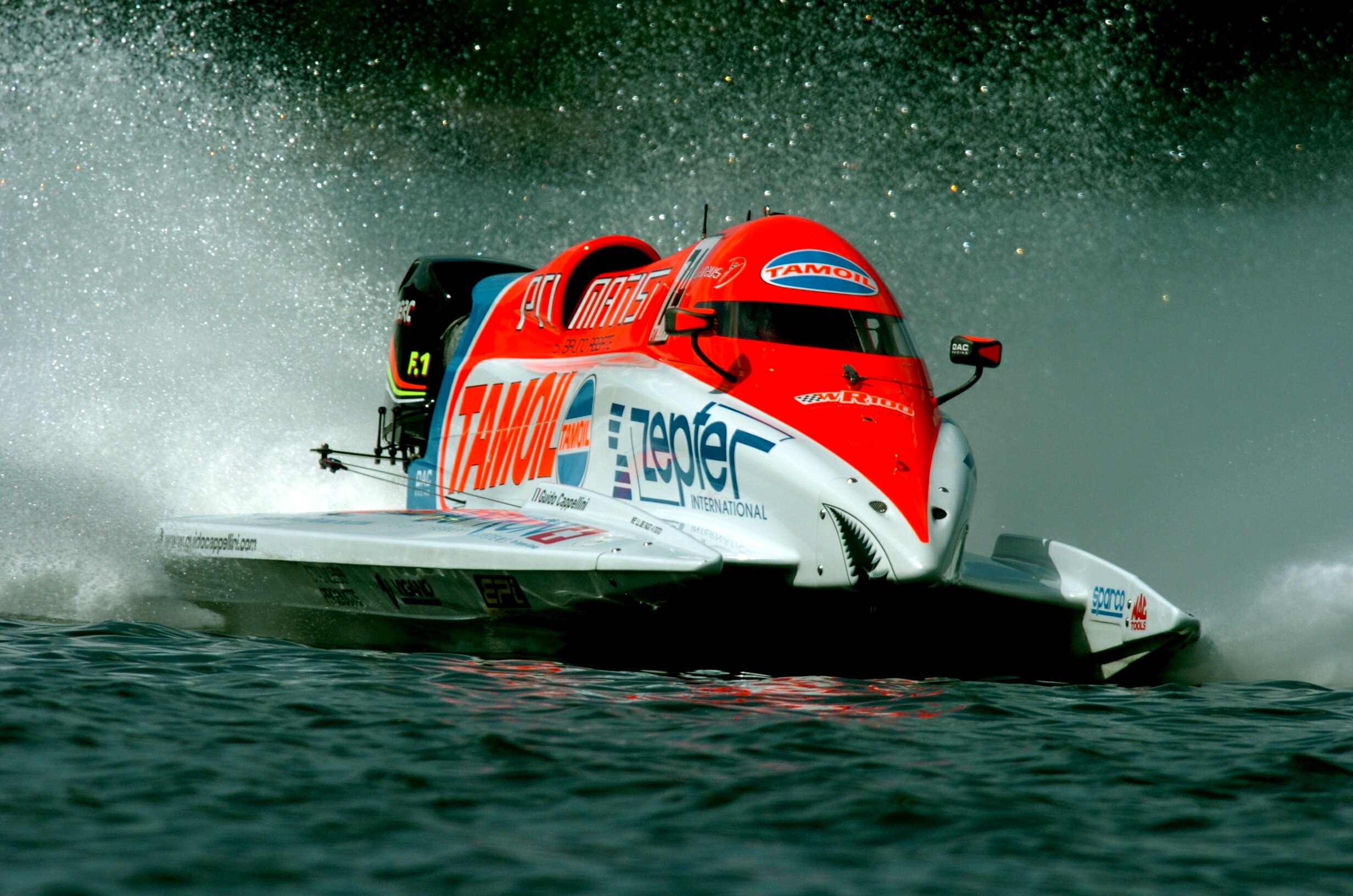 Lahti - Finland - 7 June, 2008 - Timed Trials for the Finland Grand Prix: Guido Cappellini Tamoil Team. This GP is the 3th leg of the UIM F1 Powerboat World Championship 2008. Picture by Vittorio Ubertone/Idea Marketing.