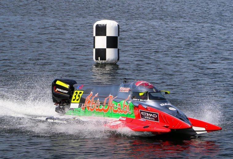 UIM  F2 – Rashed Al Qemzi (Abu Dhabi Team #35 ),mantiene la leadership nel Mondiale grazie al secondo posto al GP di Norvegia.