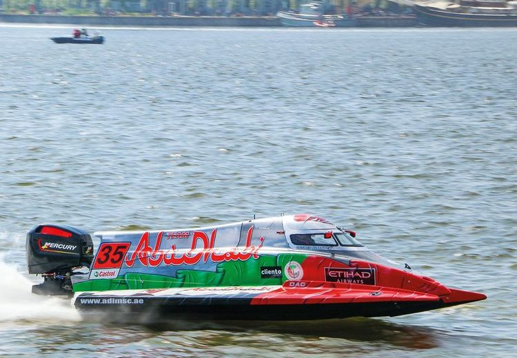 UIM F2 : Rashed Al Qemzi (#35 Abu Dhabi Team) wins GP of Italy and consolidates his leadership
